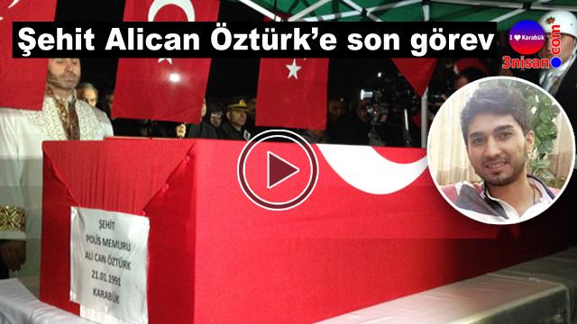 Karabük Şehit Alican Öztürk'ü uğurladı-Video