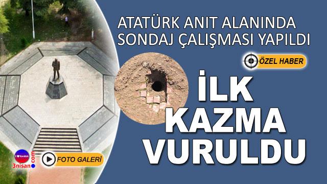 """Atatürk Anıt Alanında """"Yeni Valilik"""" çalışması başladı"""