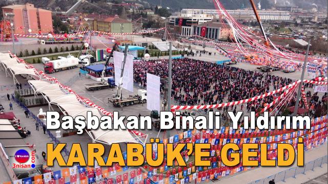 Başbakan Binali Yıldırım Karabük'e geldi