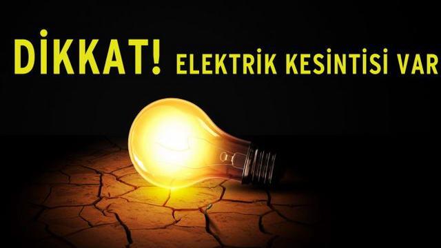 Karabük'te elektrik kesintisi