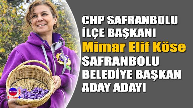 Mimar Elif Köse CHP Safranbolu Aday Adayı