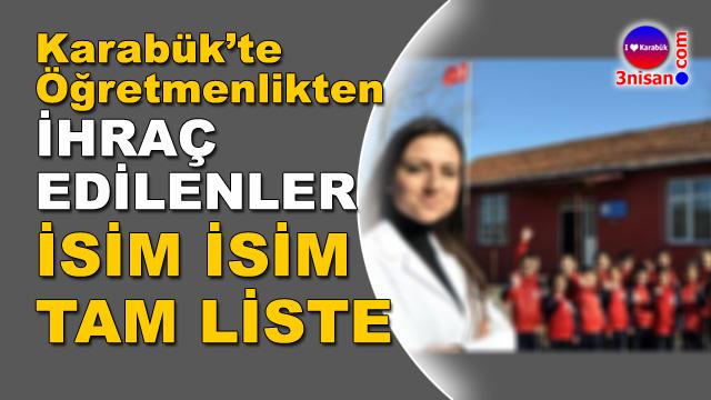 Karabük'te ihraç edilen öğretmenler