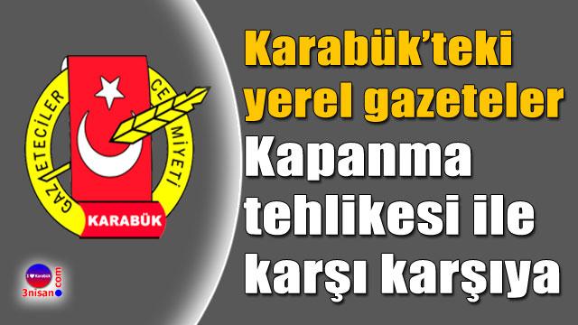 Karabük Gazeteciler Cemiyeti'nden açıklama