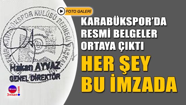 Karabükspor'da belgeler ortaya çıktı