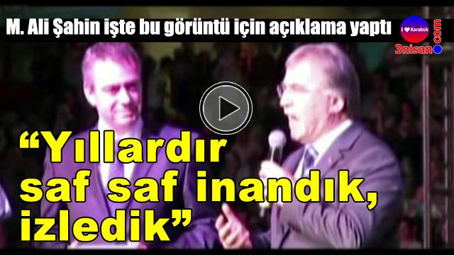 Mehmet Ali Şahin: Saf saf izledik