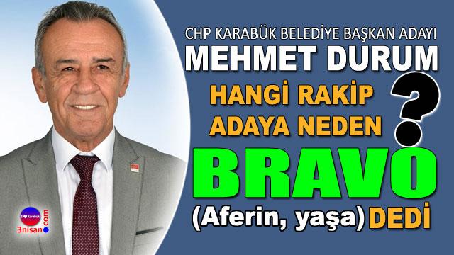 Mehmet Durum'dan hocaya: Bravo