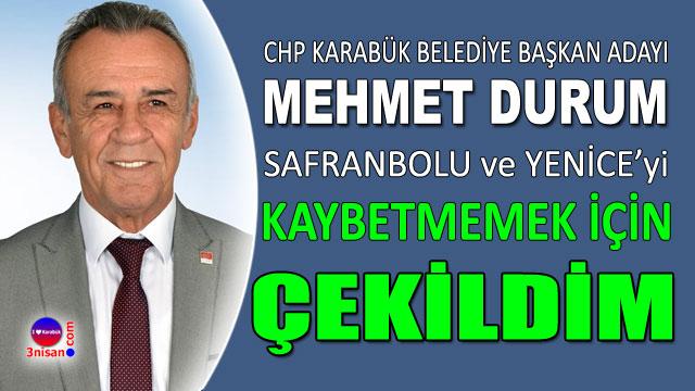 Mehmet Durum'dan açıklama