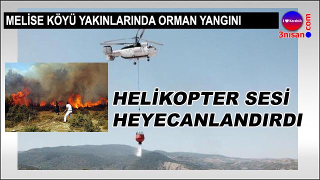 Karabük'te helikopter heyecanı
