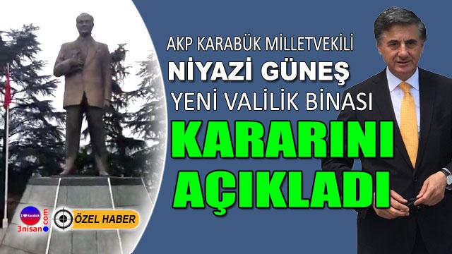 Niyazi Güneş, Atatürk Anıtı kararını açıkladı