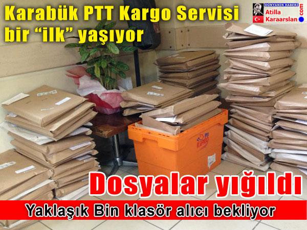 Karabük PTT Kargo'da dosyalar yığıldı