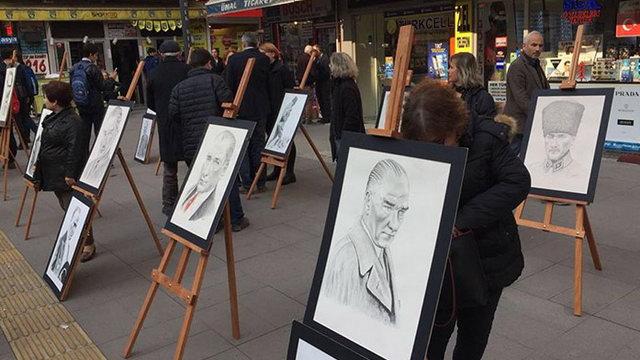 Kara Kalem Atatürk resim sergisi