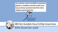 Karabük Üniversitesi KBÜ'de 'Hava Kirliliği' Araştırması