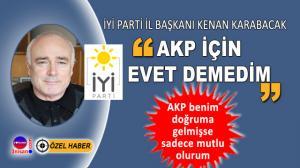 İYİ Parti Karabük İl Başkanı Kenan Karabacak'tan açıklama
